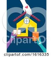 Hands Volunteer Housing Program Illustration