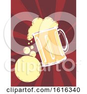 Beer Mug Bubbles Illustration