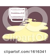 Beer Mug Spilled Flat Illustration