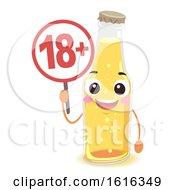 Mascot Beer Bottle Minor Signage Illustration