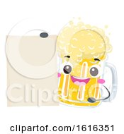 Mascot Beer Mug Board Illustration