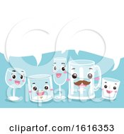 Mascot Drinking Glass Speech Bubble Illustration by BNP Design Studio