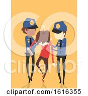 Man Alcohol Wasted Police Arrest Illustration