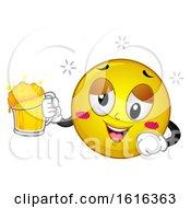 Poster, Art Print Of Smiley Drunk Illustration