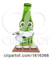 Mascot Soju Ritual Drink Illustration