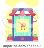 Cellphone Apps Store Illustration