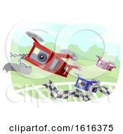 Drone Race Illustration