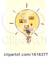 Light Bulb Room Organize Illustration