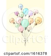Light Bulbs Balloons Concept Illustration
