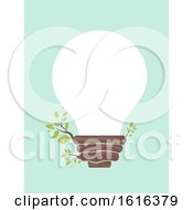 Light Bulb Tree Illustration