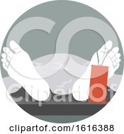 Funeral Dead Body Feet Illustration