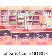 Interior Pub Scene Illustration