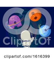 Kid Astronaut Space Planet Illustration