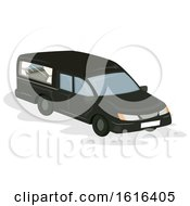 Funeral Car Illustration