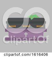 Funeral Casket Illustration