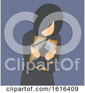 Girl Grief Photo Frame Illustration