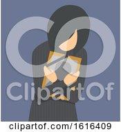Girl Grief Photo Frame Illustration by BNP Design Studio