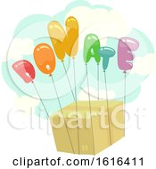Donate Balloons Box Illustration
