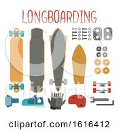 Longboard Elements Illustration