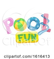 Poster, Art Print Of Pool Fun Lettering Illustration