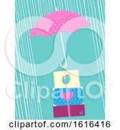 Umbrella Box Relief Typhoon Illustration