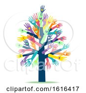 Poster, Art Print Of Hands Heart Tree Charity Organization Illustration