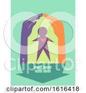 Hands Heart Housing Charity Illustration