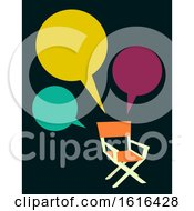 Director Chair Speech Bubbles Illustration