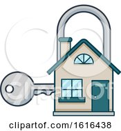 House Lock Key Design Illustration