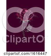 Poster, Art Print Of Pointillism Rose Illustration