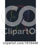 Pointillism Man Rainbow Side View Illustration