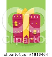 Gift Building Illustration