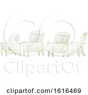 Clipart Of Four Adirondack Chairs In Watercolor Style Royalty Free Vector Illustration