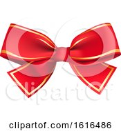 Clipart Of A Christmas Gift Bow Royalty Free Vector Illustration by dero
