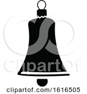 Clipart Of A Christmas Bell Royalty Free Vector Illustration