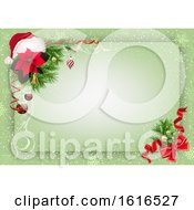Green Christmas Background Border