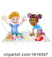 Cartoon Children Playing