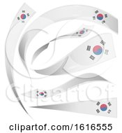 Clipart Of South Korean Flag Banners Royalty Free Vector Illustration