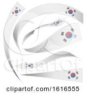 Poster, Art Print Of South Korean Flag Banners