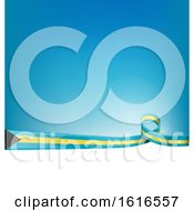 Clipart Of A Bahamas Flag Background Royalty Free Vector Illustration