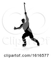 Silhouette Ice Hockey Player