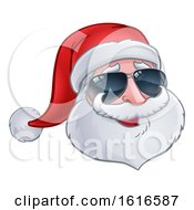 Christmas Santa Claus Wearing Sunglasses