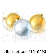 Gold And Silver Christmas Bauble Balls Ornaments