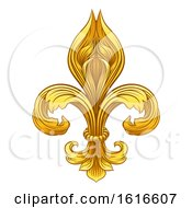 Gold Fleur De Lis Graphic Design by AtStockIllustration