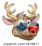 Cool Reindeer Christmas Cartoon Character Shades by AtStockIllustration