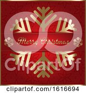 Christmas Card With A Decorative Snowflake Design