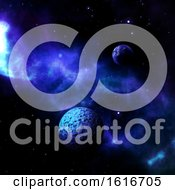 Poster, Art Print Of 3d Space Scene With Fictional Planets