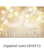 Poster, Art Print Of Gold Christmas Background