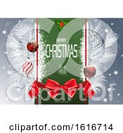 Clipart Of A Merry Christmas Happy New Year Greeting Royalty Free Vector Illustration