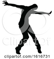 Break Dancer Silhouette by AtStockIllustration